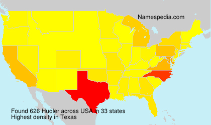 Surname Hudler in USA