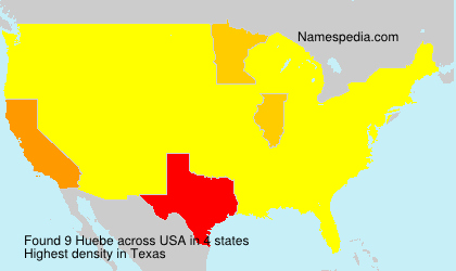 Surname Huebe in USA