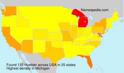 Surname Huebler in USA