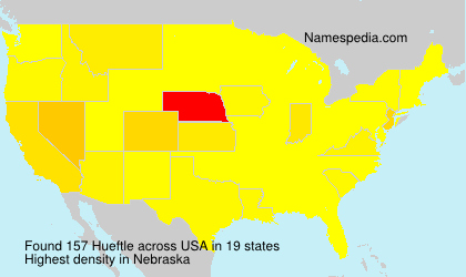Surname Hueftle in USA