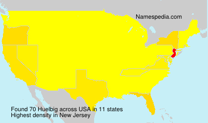 Surname Huelbig in USA