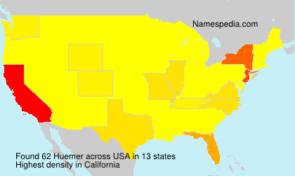 Surname Huemer in USA