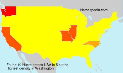 Surname Hueto in USA