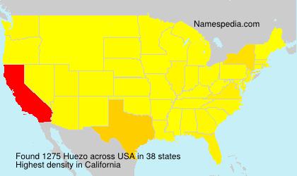 Surname Huezo in USA