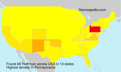 Surname Huffmyer in USA