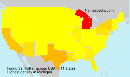 Surname Huillier in USA