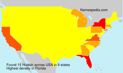 Surname Huldah in USA
