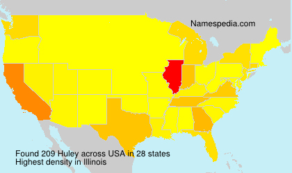 Surname Huley in USA