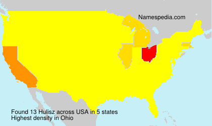 Surname Hulisz in USA