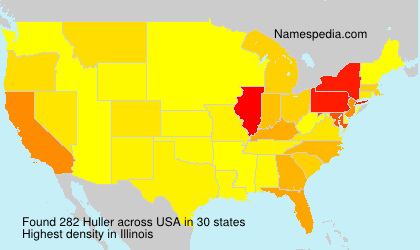 Surname Huller in USA