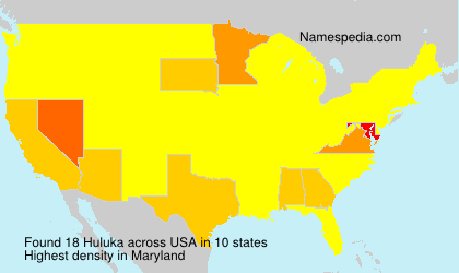 Surname Huluka in USA