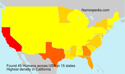 Surname Humana in USA