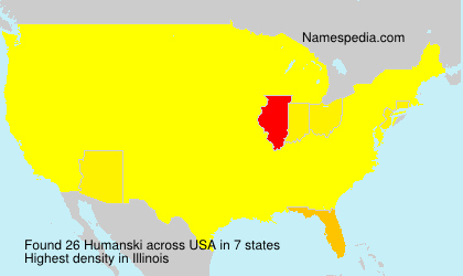 Surname Humanski in USA