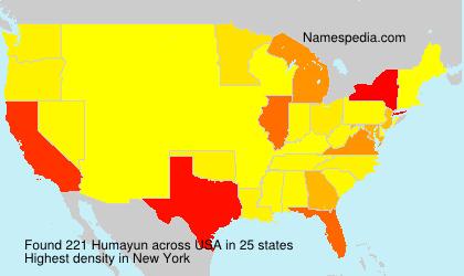 Familiennamen Humayun - USA
