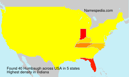 Surname Humbaugh in USA