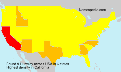 Surname Humfrey in USA