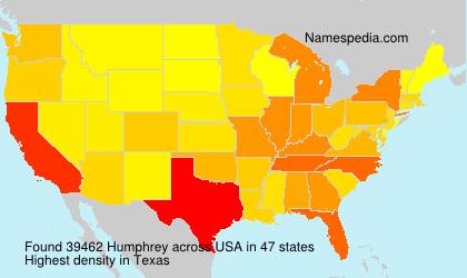 Familiennamen Humphrey - USA