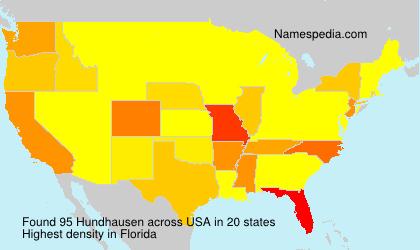 Surname Hundhausen in USA