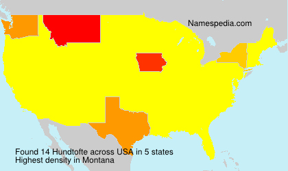 Surname Hundtofte in USA