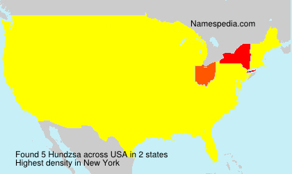 Surname Hundzsa in USA