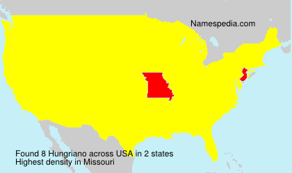 Surname Hungriano in USA