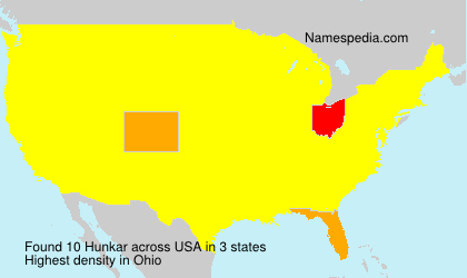 Familiennamen Hunkar - USA