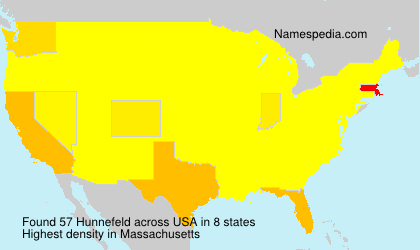 Surname Hunnefeld in USA