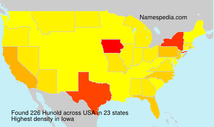 Surname Hunold in USA