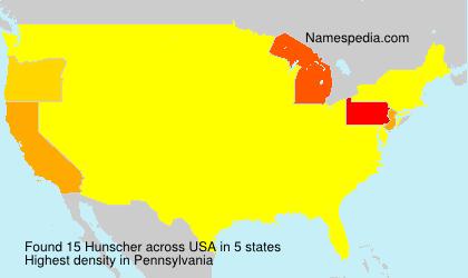 Surname Hunscher in USA