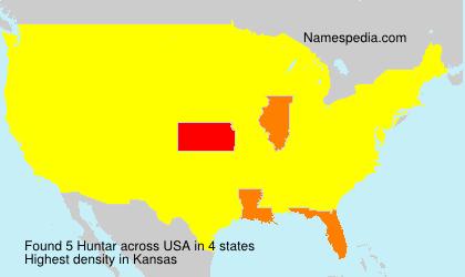 Surname Huntar in USA