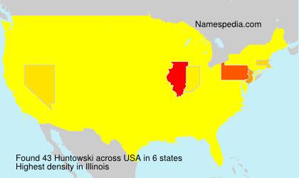 Surname Huntowski in USA
