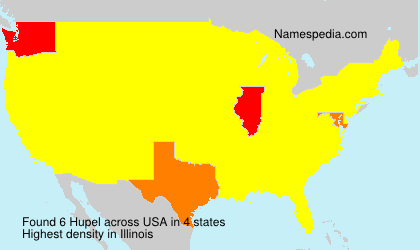 Surname Hupel in USA