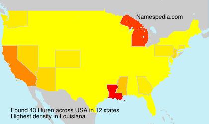 Familiennamen Huren - USA