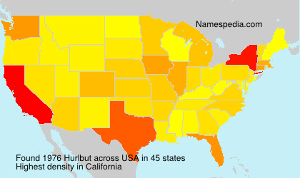 Surname Hurlbut in USA