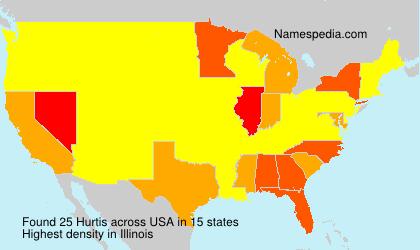 Familiennamen Hurtis - USA