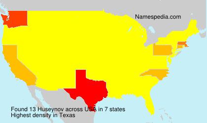 Surname Huseynov in USA