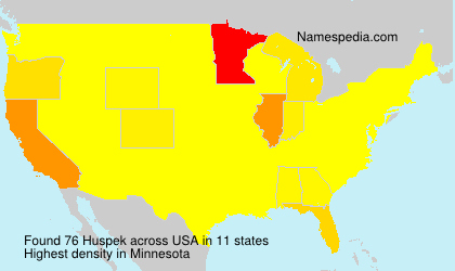 Surname Huspek in USA