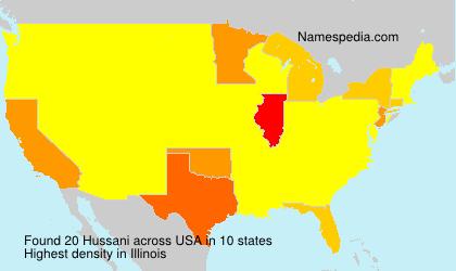 Familiennamen Hussani - USA