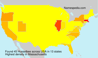 Surname Husselbee in USA