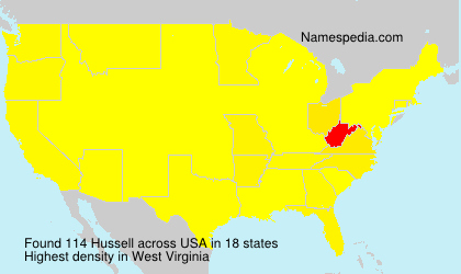 Surname Hussell in USA