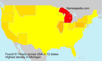 Familiennamen Huszti - USA