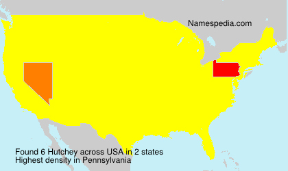 Surname Hutchey in USA