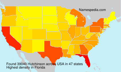 Surname Hutchinson in USA