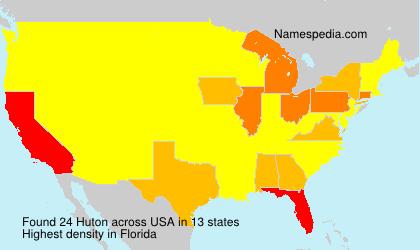 Familiennamen Huton - USA
