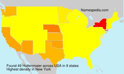 Familiennamen Huttenmaier - USA