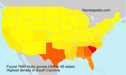 Surname Hutto in USA