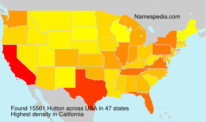 Surname Hutton in USA
