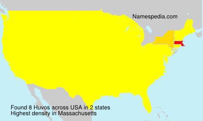 Surname Huvos in USA