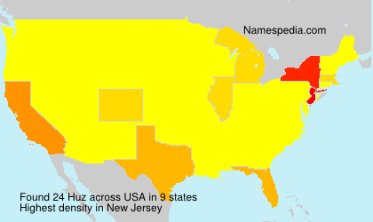 Surname Huz in USA