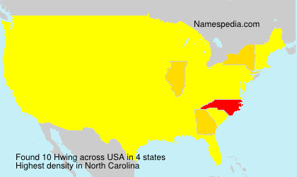 Surname Hwing in USA